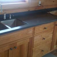 Installation solid surface kitchen custom countertops Mike's Countertop Shop Sudbury Ontario
